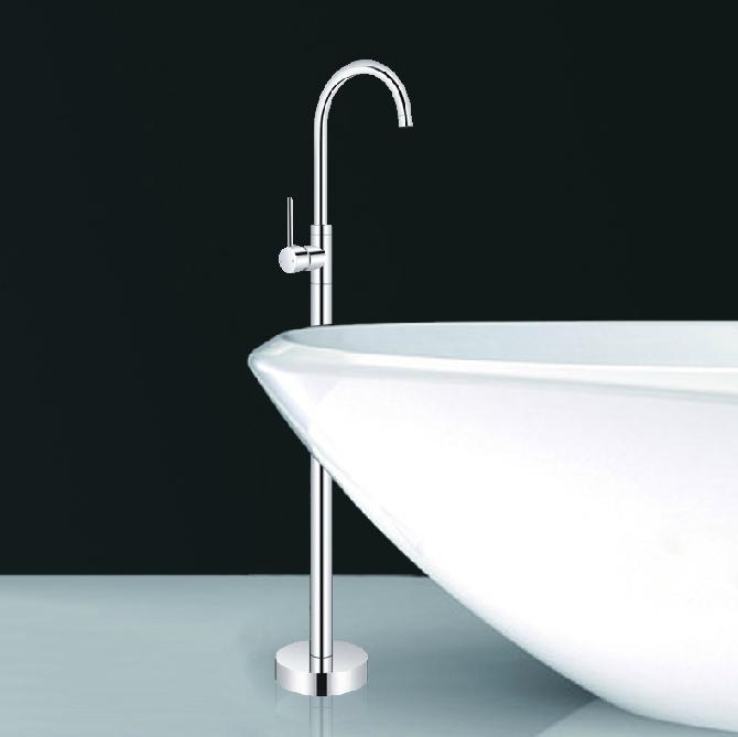 Luxury Floor Mount Bathtub Faucet Free Standing Shower Faucet Mixer Tap In Ba