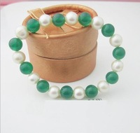 charming stone and pearl bracelet nice gift for woman free shipping