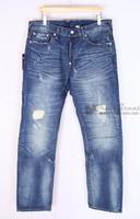 free  shipping Men's wear Billiken paint men's clothing straight fashion mid waist jeans male