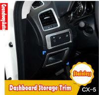 Car Stainless Interior Console Dashboard storage box Trim For Mazda CX-5 CX5 2012-present Free Shipping
