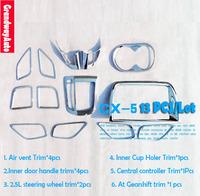 13 PCs Interior dashboard air vent Trims+ Steering wheel+Gearshift+Door Cup Holer Trim +Door Handle Trim Mazda CX-5 CX5 12 Up