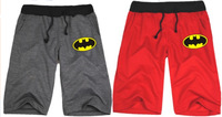 Wholesale-2014 fashion cartoon batman shorts loose casual short pants sport half pants couple pants bat man print shorts 8 color