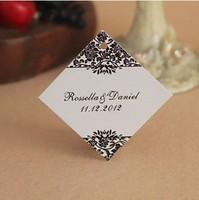 Free Shipping 30 pcs Personalized Rhombus Magic Vines Wedding Favor Tag/Wedding Decoartion/Garden Supplies