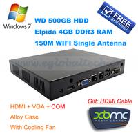 Free Shipping Opera Mini for PC Windows with HDMI, VGA and COM, Smart TV Thin Client PC Intel Celeron 1037U 6 USB, 2 LAN RJ45