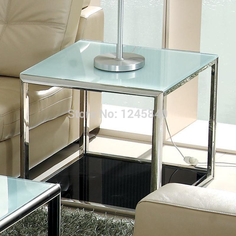 Mesa de centro de vidrio templado para sala car interior - Mesas de vidrio templado ...