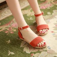 2014 sandals female flat heel flat summer anti-slip soles female shoes sweet
