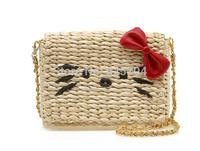 Smilyan 2014 new straw hello kitty women messenger bags cute and samll eco-friendly cross-body women shoulder bags! 88263