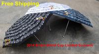 2014 Brazil World Cup Souvenir Umbrella,Dancing Armadillo Musical,3 Colors,Italy Design,Super Mini&Light,5 Fold,8K.Anti-UV,