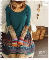 Mori Girl girl knitted long-sleeve basic T-shirt basic t-shirt top