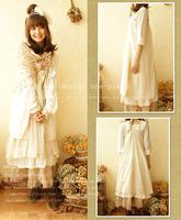 Forest Mori Girl cawaii dress Welsh loose lace spaghetti strap personalized one-piece dress harajuku basic falda vestido oncinha