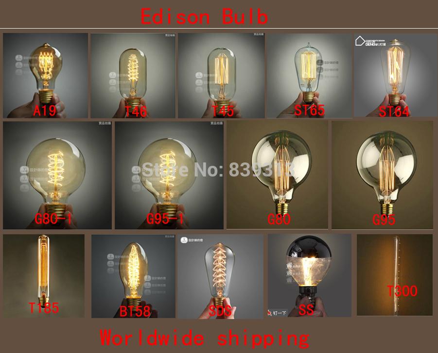 tungsteno lampadina : 60w 220v filamento di tungsteno lampada di edison lampadina, tungsteno ...
