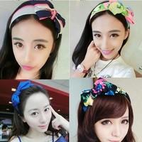 2014 New Hot Sale Chiffon Bow Hair Band Bohemian Hairband Headband For Women Fashion Hair Accessories Headwear Free Shipping
