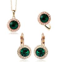 2014 new fashion wedding crystal jewelry set silver
