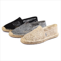 New 2014 Summer Fashion Desugner Casual Canvas Lace Female Footwear Ladies Women Flats Driving Sole Shoes Sneakers