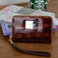 M***K  mobile phone bag clutch stereo knitted embossed cowhide wallet 0.15kg Genuine Leathe