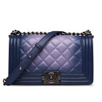 Hot Sale 2014 New LE BOY Lambskin Leather Flap Bag Women's Name Brands Designer Bag Shoulder Messenger Bags Evening Party Bag