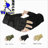 High Quality Black Hawk Fighting Riding Glove Mountaineer Antiskid Gloves Outdoor Sports Gloves 3 Colors Wholesale Free Shipping