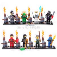 Good Quality mini figures ninja ninjago 8pcs/lot Building Blocks Set Toy Birthday gift Free Ship