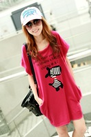 2014 maternity clothing summer one-piece dress one-piece dress o-neck maternity dress