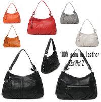 Hot Selling Genuine Leather Women's Handbag 2014 Tassel Cowhide Small Bag One Shoulder Fashion Women's Cross-Body Messenger Bags