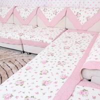 100% cotton sofa cushion fabric cushion fashion quilting sofa towel sofa cushions slip-resistant sofa cover rustic
