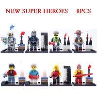 8pcs/lot Marvel Heroes Roman knight  Black Widow Building Blocks Sets Minifigure Bricks Classic Toys Compatible with lego
