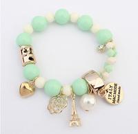 Sweet Candy Coated Bracelet Eiffel Tower Pendant Bracelet Statement Bracelet  cxt906379
