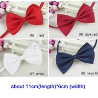 LJ002-Candy color Cute 11cm Adjustable Pet Teddy Dog Cat Boy Kids Baby Bow Tie Necktie Bowtie Free shipping 100pcs/lot