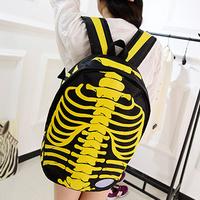 2014 NEW hot body bone Backpack skeleton body Racksacks School Bags Drop Shipping