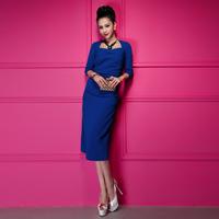 HOT! 2014 new Spring Korean fashion elegance dress retro dress women dress,free shipping