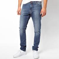Hot Sale! Brand Jeans Slim Straight Blue Men Denim Jeans Pants 100% Cotton Size 29-38