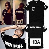 Hot selling New Lovers Hood by air hba x been trill kanye west T-shirt short-sleeve top tee