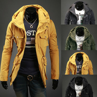 2014 new fashion personality double collar male jacket casual luxury men slim