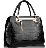2014 New Crocodile Pattern PU leather women handbags,Vintage Designers Brand Women's shoulder bag cross-body messenger bags 1431