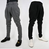 2014 new arrival fashion trousers grey men pants casual pants trousers male  harem pants