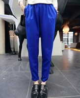 Women's European and American Style Fashion Brief Multi-Pockets Solid Color All-Match Loose Harem Pants 2014 Spring-Autumn New