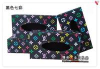 Hot sale Black colour Tissue boxes European-style originality cloth Tissue lovely fashion tissue boxes 22*12*7.5CM Free shipping