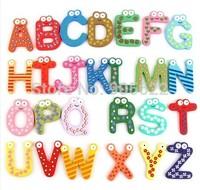 1set Fridge Wooden Magnet Baby /Child Toy A-Z ABC Educational Alphabet 26 Letters Education learning souvenir fridge magnet