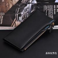 Free Shipping 2014 Fashion  wallet men hot sale business style multi-card man purse long design Wallets