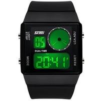 Free shipping New Fashion Military Digital Wristwatches Ladies Silicone Strap 30m Waterproof Dive Quartz Dress Watch