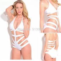 2014 One Piece Swimsuit For Women, One-piece Triangle Strappy Swimwear Monokini, Bandage Push Up Bathing Suit biquini