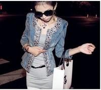 summer  and autumn spring 2014 women's HARAJUKU denim outerwear female clothing women's diamond cardigan*