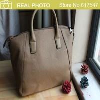 AB061 Modern Fashion Classic Solid Leather Like Shoulder Bag  2014 new hand bag  Bowling Boston bag free shipping drop shipping