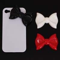Big bow rhinestone material diy kit pasted phone case  for iphone   mobile phone beauty accessories set