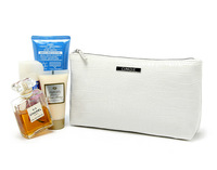 H1536 EE Modern Fashion OL Solid White PU Cosmetic MakeUp Organizer Storage Bag