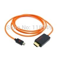 20pcs/lot Orange 1.8m Slimport MyDP to HDMI Male HDTV Full HD adapter for Google Nexus 4 & 2013 new Nexus 7 Tablet,Free shipping