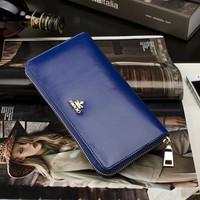 New 2014  Women Brand Wallets Famous Designer wax genuine Leather Purses Ladies Multi -card Women Wallets Free Shipping