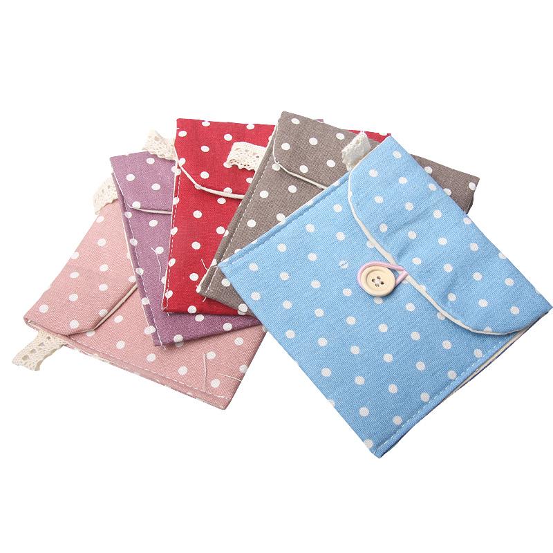 Fresh polka dot fluid sanitary napkin sanitary napkin bags storage bag(China (Mainland))