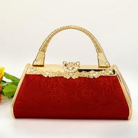 Work bag handbag ktv princess bag dj clock bag evening bag red 720