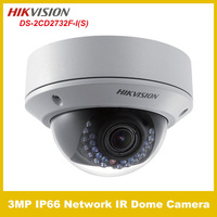HIKVISION DS-2CD2732F-I (S) 3MP IP66 Network IR Dome Camera CCTV network ip camera support POE Free shipping
